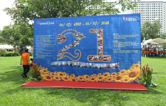 Backdrop dùng cho lễ khai mạc