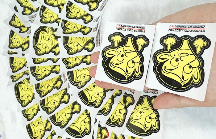Sticker sau khi được cắt rời