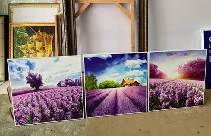 Tùy thuộc vào không gian trang trí mà quý khách chọn kích thước in tranh canvas cho phù hợp