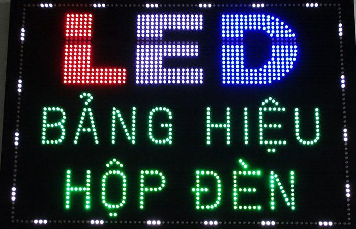 Bảng hiệu đèn led là công cụ quảng cáo về đêm cực kỳ hiệu quả