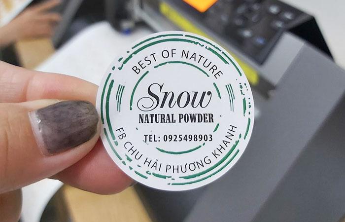 In decal chuyên dùng làm tem nhãn