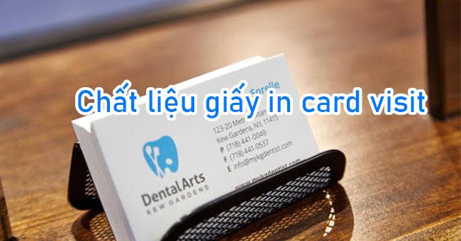 Top 7 chất liệu giấy in card visit 2 mặt thông dụng nhất